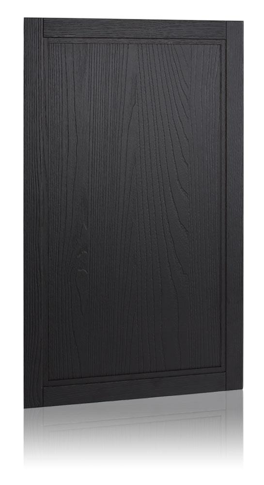 Lava black candblasted effect chestnut framed door