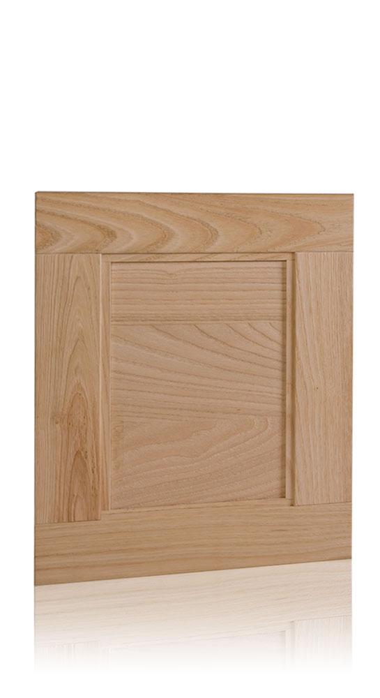 Natural sandblasted effect framed door