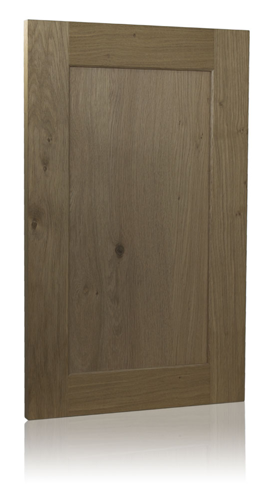 Inset panel door in knotted oak