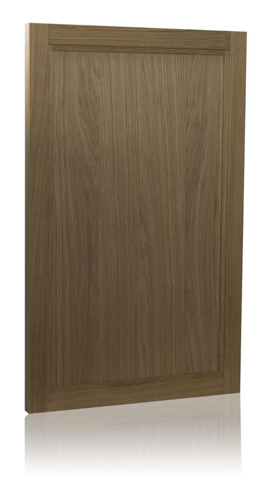 Inset panel door in oak