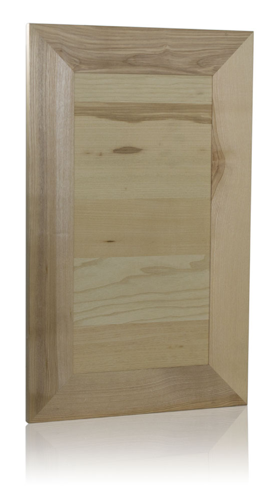 Inset panel door with 45° mitered joints an ash wood